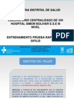 Presentacion Entrenamiento Prueba Rapida Centralizado Vih Hsb Sds 2017