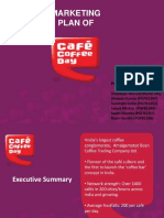 Marketing Plan of Cafe Coffee Day