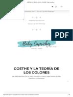 Goethe y La Teoría de Los Colores - Baby Caprichos