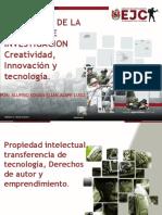 definicion Propiedad intelectual, transferencia de tecnología, Derechos de autor y emprendimiento..pptx