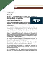 Decreto 531 de 2010
