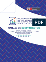 Manual de subproyectos Pnipa