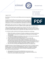 8-22-19 | Mayor Cranley's letter to Council re