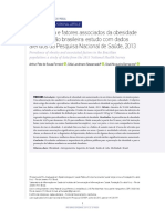 Prevalência e Fatores Associados Da Obesidade Na População Brasileira- Estudo Com Dados Aferidos Da Pesquisa Nacional de Saúde, 2013