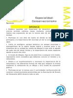 Especialidades Servicio Conservacionismo