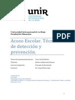 Art. Acoso Escolar. Técnicas de Detección y Prevención.