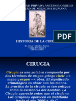 HISORIA DE  LA CIRUGIA