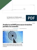 Análisis de La Red WiFi Para Evitar Pérdida de Señal en Tu Casa u Oficina
