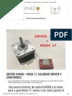 DRIVER A4988 + NEMA 17, CALIBRAR DRIVER Y CONEXIONES