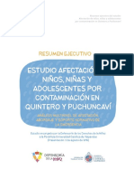 Resumen Ejecutivo Estudio Afectación NNA Quintero y Puchuncaví 02-08-2017