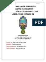 Informe de Kirchhoff