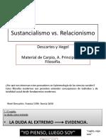 Sustancialismo vs Relacionismo