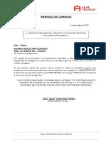 MODELO DE CARTA DE BENEFICIO DE COBRANZA