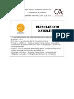 Habilidades Incluidas en Las PUCOBA 2019-2020