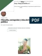 Filosofía, Corrupción y Ética de Lo Público - Negocios y Movidas _ Blogs Portafolio