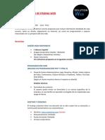 Cotización de Página Web Plan Económico