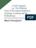 Perception and Language Acquisition