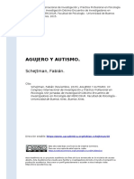 Schejtman, Fabian (2015). Agujero y Autismo