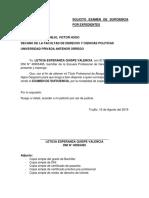 Solicito Rendir Examen de Suficiencia Profesional