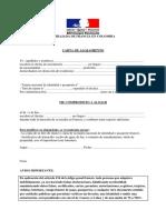 Carta invitación francia