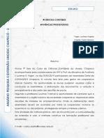 CIÊNCIAS CONTÁBEIS - Vivencias Profissionais