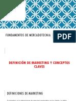 Fundamentos en Mercadotecnia Unidad 1 - 2