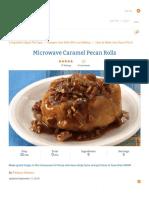 Microwave Caramel Pecan Rolls Recipe - Pillsbury.PDF