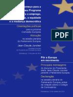 JUNCKER. Orientações Políticas p Próxima Comissão Europeia.2014