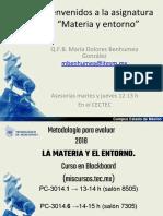1er Día de Clases Materia y Entorno 2018 (1)