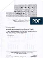 Malaysian University English Test (MUET Paper 3) End-Year 2010