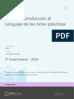 Introducción lenguaje Artes plasticas