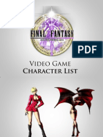Miss Engineering 2010 Video Game Characters List