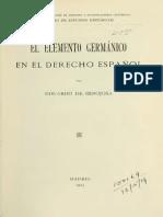 El Elemento Germánico en El Derecho Español
