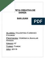 Carpeta Creativa de Danza Valentina