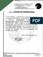 Certificado de Originalidad