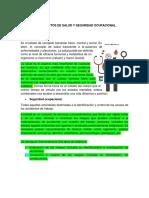 1.1 Concepto de Salud y Seguridad Ocupacional