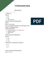 Python Basic,Numpy,Panda-mcq - Key
