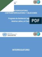 Interrogatorio, Contrainterrogatorio y Objeciones
