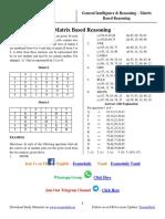 Matrix Based Reasonings