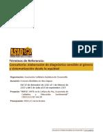 Diagnostico y Sistematizacion GENERO Ampliacion