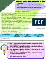 Science Activities-1st Quarte