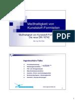 Maßhaltigkeit Von Kunststoff Formteilen Die Neue DIN 16742