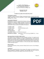Syllabus Consti 1 1st Sem. AY 2019 2020