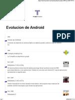 Linea de Tiempo Android 0.3 a 9.0