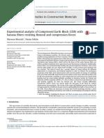 Analisis experimental de bloques de tierra comprimida con fibras de banana resistentes a fuerzas de flección y compresión