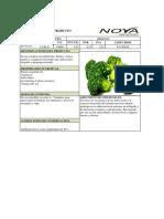 Ficha Tecnica Del Producto para exportacion