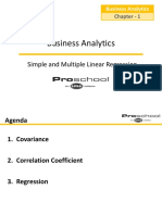 Simple and Multiple Linear Regression