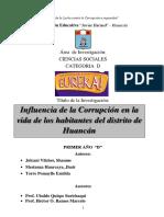 Feria de Ciencias 2019 Huancan