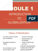 MODULE 1 Introduction to Globalization