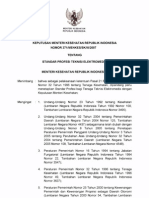 KMK No. 371 Ttg Standar Profesi Teknisi Elektromedis